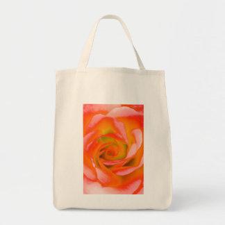 Orange Rosen-Nahaufnahme Tragetasche