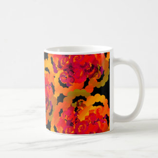 Orange Rosen-Wirbels-Tasse Kaffeetasse