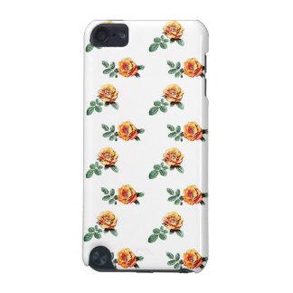orange Rosenmuster iPod Touch 5G Hülle