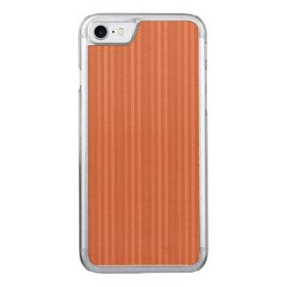 Orange Rost-vertikale Streifen-Muster Carved iPhone 7 Hülle