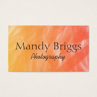 Orange Rot-Aquarell-Malerei-Fotografie Visitenkarte