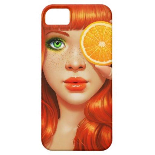 Orange Rot iPhone 5 Etuis