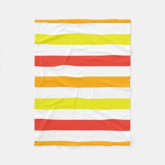 Orange Rot-und Gelb-Streifen Fleecedecke