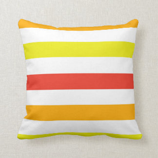 Orange Rot-und Gelb-Streifen Kissen
