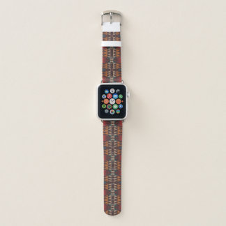 Orange roter aquamariner blauer eklektischer apple watch armband