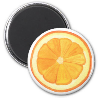 Orange Runder Magnet 5,7 Cm