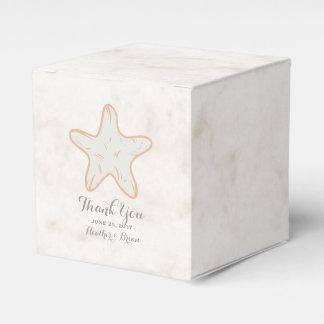 Orange rustikale Starfish-Hochzeit Geschenkkarton