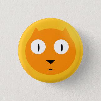 Orange Scaredy Katze Runder Button 2,5 Cm