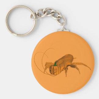 Orange Schabe Schlüsselanhänger