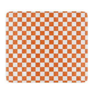 Orange Schachbrett Schneidebrett