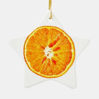 Orange Scheibe Dble-Versah Stern-Verzierung mit Keramik Ornament