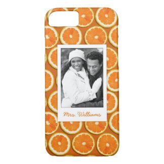 Orange Scheibe-Muster | addieren Ihr Foto iPhone 8/7 Hülle