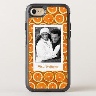 Orange Scheibe-Muster | addieren Ihr Foto OtterBox Symmetry iPhone 8/7 Hülle