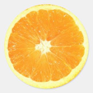 Orange Scheibe Runder Aufkleber