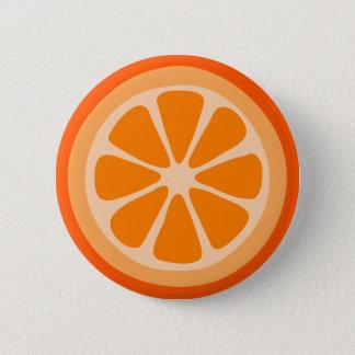 Orange Scheibe Runder Button 5,7 Cm