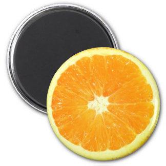 Orange Scheibe Runder Magnet 5,7 Cm