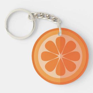Orange Scheibe Schlüssel-Kette Schlüsselanhänger