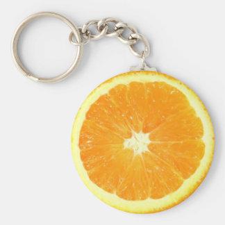 Orange Scheibe Schlüsselanhänger