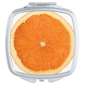 orange Scheibe Schminkspiegel