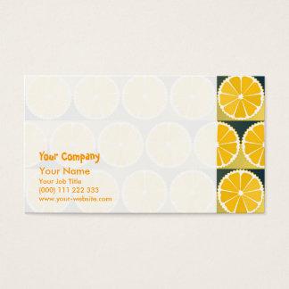 Orange Scheibemuster Visitenkarte
