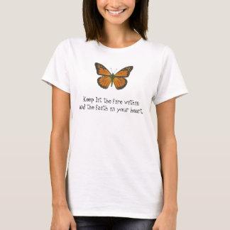 Orange Schmetterlings-T - Shirt