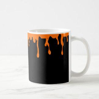 Orange Schmiere Kaffeetasse