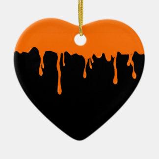 Orange Schmiere Keramik Ornament