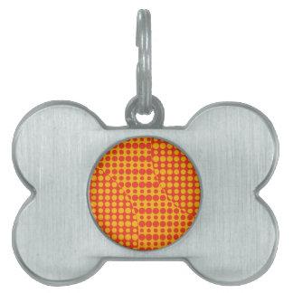 Orange Schmutz-Hintergrund Tiermarke
