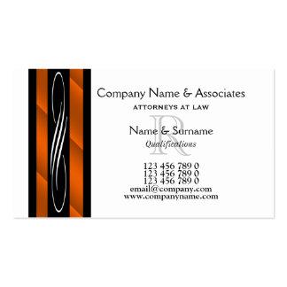 Orange Schwarz-weißes des Visitenkarten