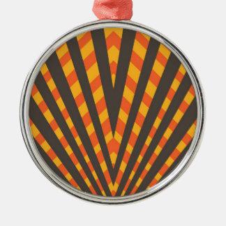 Orange schwarzer Dreieck-Entwurf Silbernes Ornament
