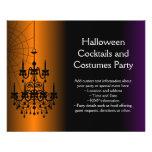 Orange/schwarzer Halloween-Leuchter Vollfarbige Flyer