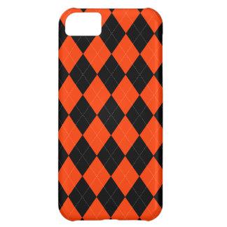 Orange schwarzer Raute iPhone 5c Kasten iPhone 5C Hülle