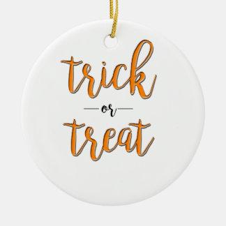 orange schwarzes einfaches Trick- oder Keramik Ornament
