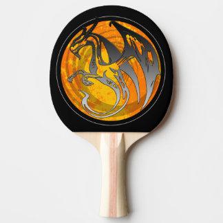 Orange schwarzes Schmutzflügeldrache-Klingeln pong Tischtennis Schläger