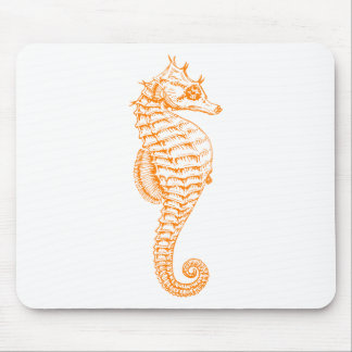 Orange Seepferd Mousepad