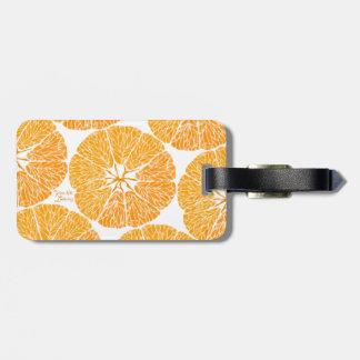 Orange Sie froh… Gepäckanhänger