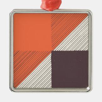 Orange Silbernes Ornament
