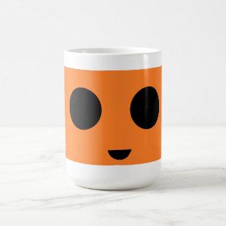 Orange smiley kaffeetasse