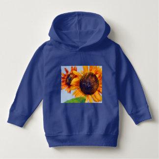 Orange Sonnenblumen Hoodie