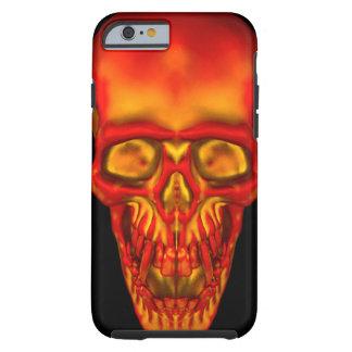 Orange Sonnenschein-Schädel Tough iPhone 6 Hülle