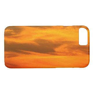 Orange Sonnenuntergang bewölkt Fotografie 1 iPhone 8/7 Hülle