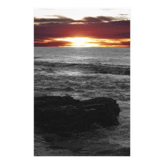 Orange Sonnenuntergang Briefpapier
