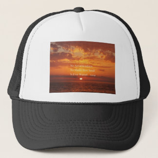 Orange Sonnenuntergang-Gütezitat Äsop Truckerkappe