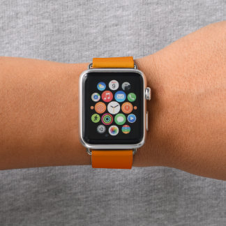 Orange Sonnenuntergang-Himmel-lila Steigung Apple Watch Armband