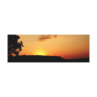 Orange Sonnenuntergang-Horizont-Leinwand Pring Leinwanddruck