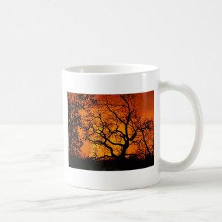 Orange Sonnenuntergang Kaffeetasse