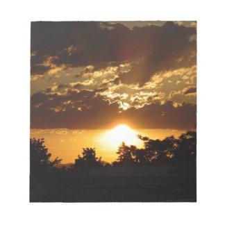 Orange Sonnenuntergang Notizblock