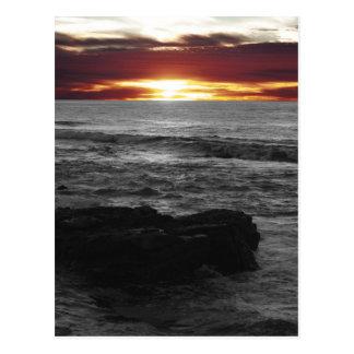 Orange Sonnenuntergang Postkarte