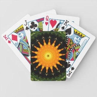 Orange Spielkarten Sun