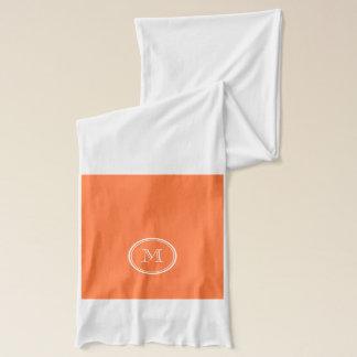 Orange Spitzen mit Monogramm gefärbt Schal